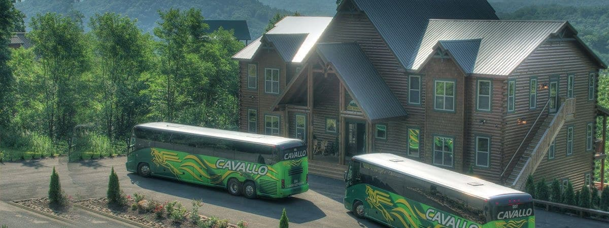 Pigeon Forge cabin with motorcoach parking