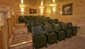 theater room in large cabin