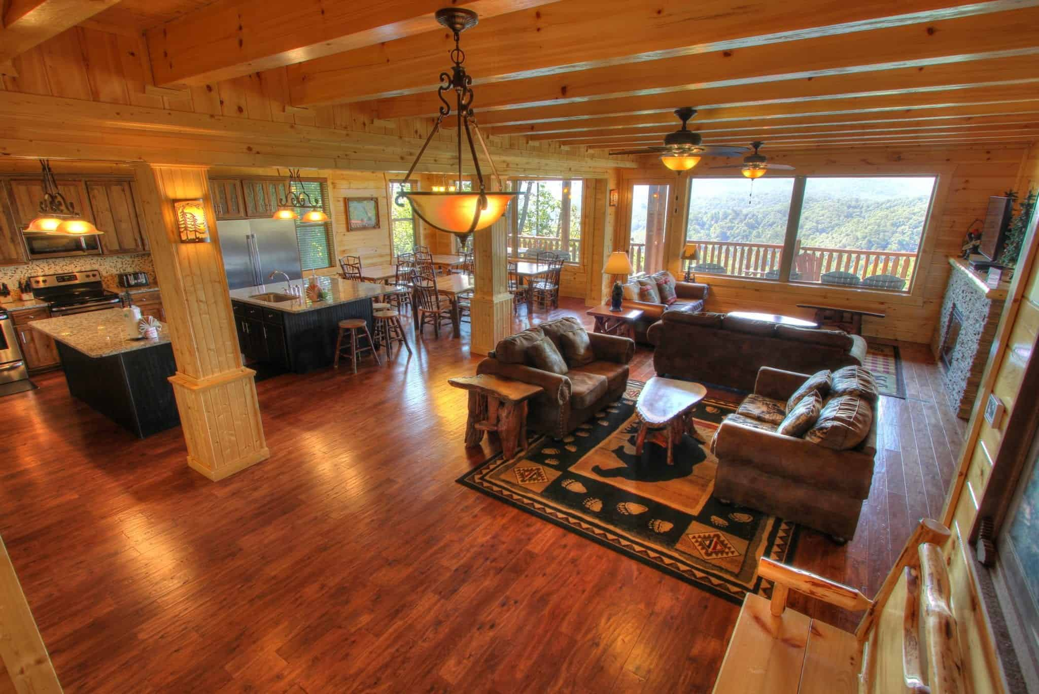 7 amenities only found in our pigeon forge cabin rentals for Large cabin rentals in tennessee