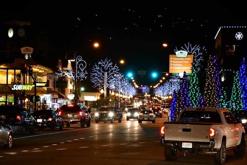 Downtown Gatlinburg Christmas Lights